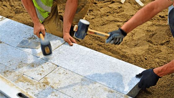 using polymeric sand and regular sand